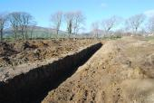 Big field drainage ditches put in because of 50 inch plus rainfall per year also to stop yard flooding