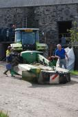 Preparing for yet another day's cutting second crop silage